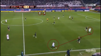 Shows how wide the Sevilla full backs and wingers were late on.